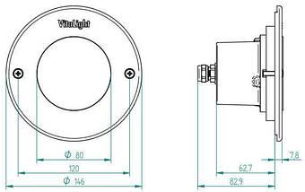 Fitstar VitaLight White 40200020 15  LED светодиодный мини прожектор для бассейна без ниши, фото 3