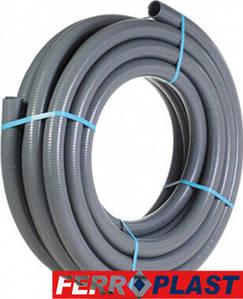 ПВХ труба гнучка Ø 75мм Flex Fit Ferroplast (ціна за 1 мп)