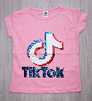 Модная футболка для девочки Tik Tok от 2 до 5 лет
