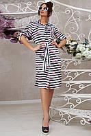 Повседневное летнее платье–рубашка 1331 (42–48р) в расцветках, фото 1