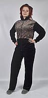 Женский велюровый спортивный костюм больших размеров   (тигр)
