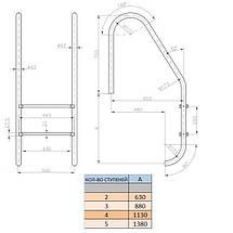 Лестница Kripsol Standard PI 3.D (3 ступ.), фото 3