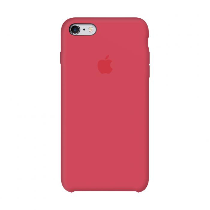 Силиконовый чехол на айфон/iphone 6\6S  красно-малиновый/red raspberry + защитное стекло в подарок