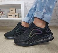 Кроссовки аирмакс на амортизаторах силиконовой подушке черные, фото 1