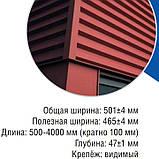 "Фасадные панели ""Оригинал"" РЕ 9003 белый глянец, 0.7 мм, Корея UnionSteel, фото 2"