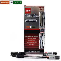 """Ручка черная Cello Original """"Finegrip"""" 0,7мм 12 штук в упаковке + 1  ручка  Butterflow в подарок"""