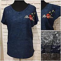 Женская стильная футболка Полу батал