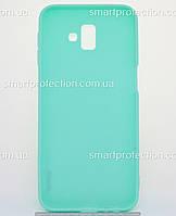 Samsung J6 J6+ (2018)\Бампер силиконовый SMTT Soft Touch для Samsung J6 Plus бирюзовый