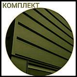 """Металлосайдинг   фасадные панели   """"Комплект""""   Термастил   RAL 6005 • зеленый глянец   0,5 мм., фото 7"""