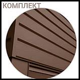 """Металлосайдинг   фасадные панели   """"Комплект""""   Термастил   RAL 6005 • зеленый глянец   0,5 мм., фото 6"""