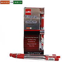 """Ручка красная Cello Original """"Finegrip"""" 0,7мм 12 штук в упаковке + 1  ручка  Butterflow в подарок"""