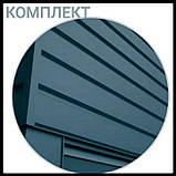 """Металлосайдинг   фасадные панели   """"Комплект""""   Термастил   RAL 6005 • зеленый глянец   0,5 мм., фото 4"""