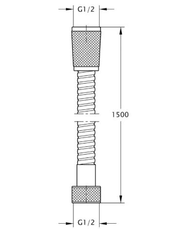 Bianchi FLS460#150AB9ORO шланг 1/2 150 см нерж.2 замка