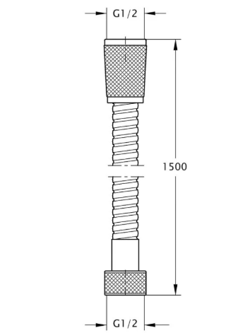 Bianchi FLS460#150AB9ORO шланг 1/2 150 см нерж.2 замка, фото 2