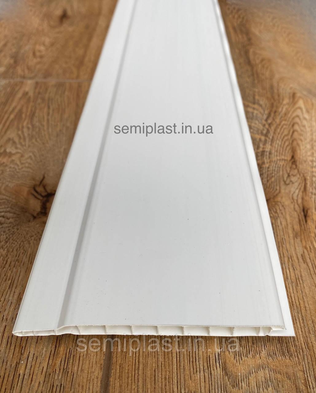 Пластиковая вагонка C100 Белая глянцевая 10 см
