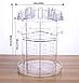 Акриловый органайзер для косметики вращающийся Cosmet Ics Box  JN-820. Регулируемые полки, фото 7