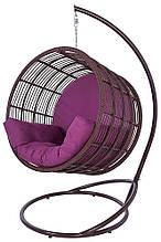 Підвісне садове крісло гойдалка кокон крапля куля плетене з ротанга Українські Конструкції Престиж / Prestige