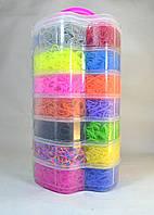 Большой набор резинок для плетения браслетов 7 ярусов 15000