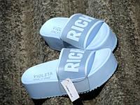 Женские Голубые Летние Шлепанцы Vollex *Rich*  р.36,38,39,40,41, фото 1