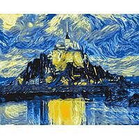 Картина по номерам Магический замок, размер 50*40 см, зарисовка полная