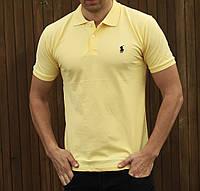 Футболка Polo Ralph Lauren   Жовта теніска лого вишивка   бирка, фото 1