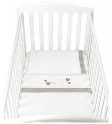 Набор постельного белья Cam Orso, белый с бежевым (G245)