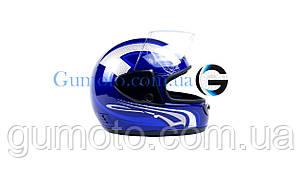 Шлем для мотоцикла Hel-Met 101 синий, фото 2
