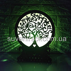 Соляной светильник Шар 5 Дерево