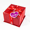 "Подарочная коробка ""Квадратная красная"""