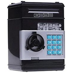 Копилка Сейф Ukc электронная с кодовым замком для бумажных денег и монет (только красный))