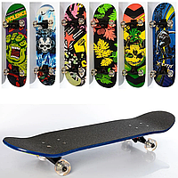 Скейт MS 0355-4 (6шт), 79-20 см (нажд), алюм.подвеска