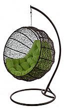 Підвісне садове крісло гойдалка кокон крапля куля плетене з ротанга Українські Конструкції Фієста / Fiesta