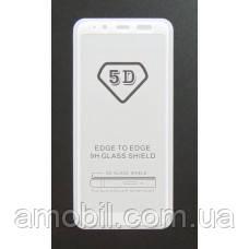 Защитное стекло 5D Samsung Galaxy A6 A600 2018 full glue white