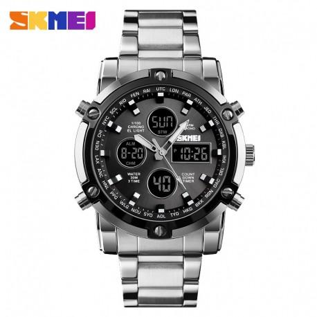 Часы мужские металлические Skmei 1389 (Скмеи), цвет серебро ( код: IBW330S )