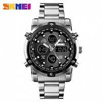 Часы мужские металлические Skmei 1389 (Скмеи), цвет серебро ( код: IBW330S ), фото 1