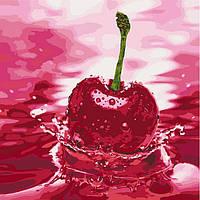 Картина по номерам Вишневый привкус, размер 40*40 см, зарисовка полная