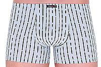 Размер L Трусы шорты мужские в полоску, хлопок, с узкой резинкой размер L, Fuko UB 8149