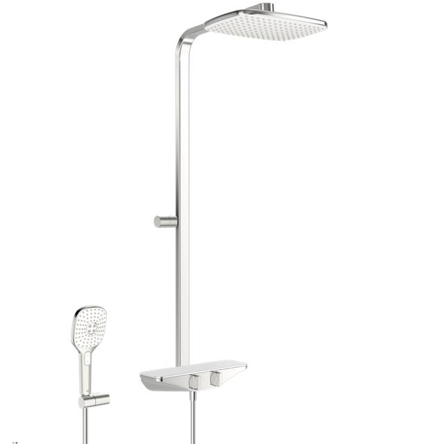 Душевая система со смесителем та ручным душем 7590-11 ESTETA хром/белый