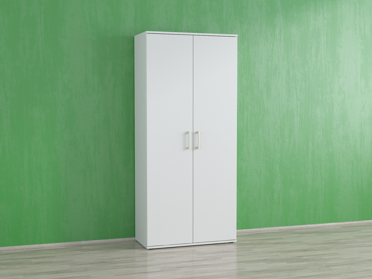Шкаф для одежды с полками и штангой для обуви. Код: А-8
