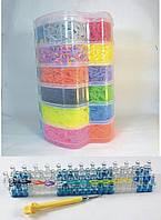 Набор резинок для плетения браслетов 12000 резиночек 6 ярусов Яблоко с профессиональным станком