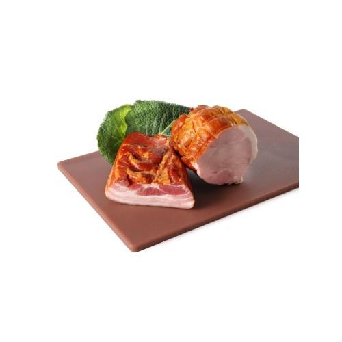 Доска разделочная  коричневая  HACCP 450х300х127  (варёное мясо, колбасы)