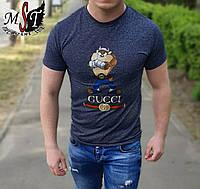 Мужская стильная приталенная футболка GUCCI, фото 1