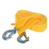Трос буксир ТРШ-245-3-1  3т лента 46мм х 4,5м  желтый/крюк/кулек (ТРШ-245-3-1)