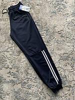 Мужские тонкие спортивные штаны с  полосками,карманами и манжетом  Золото (52, 54, 56) размеры)