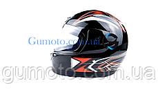 Шлем для мотоцикла Hel-Met 802 черный размер М, фото 2