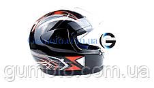 Шлем для мотоцикла Hel-Met 802 черный размер М, фото 3