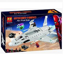 "Конструктор Bela 11315 ""Реактивный самолёта Старка и атака дрона"", 528 деталей, аналог Lego Super Hero"