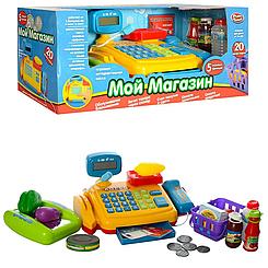 """Детский кассовый аппарат """"Мой магазин"""" Play Smart 7018 RU, на бат-ке, муз, продукты, в кор-ке, 43-18-17,5см"""