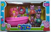 """Игровой набор """"Свинка Пеппа"""" YM8082, с ванной, в коробке, 38х15х23 см"""