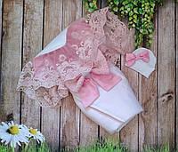 Нарядный конверт-одеяло на выписку, в расцветках